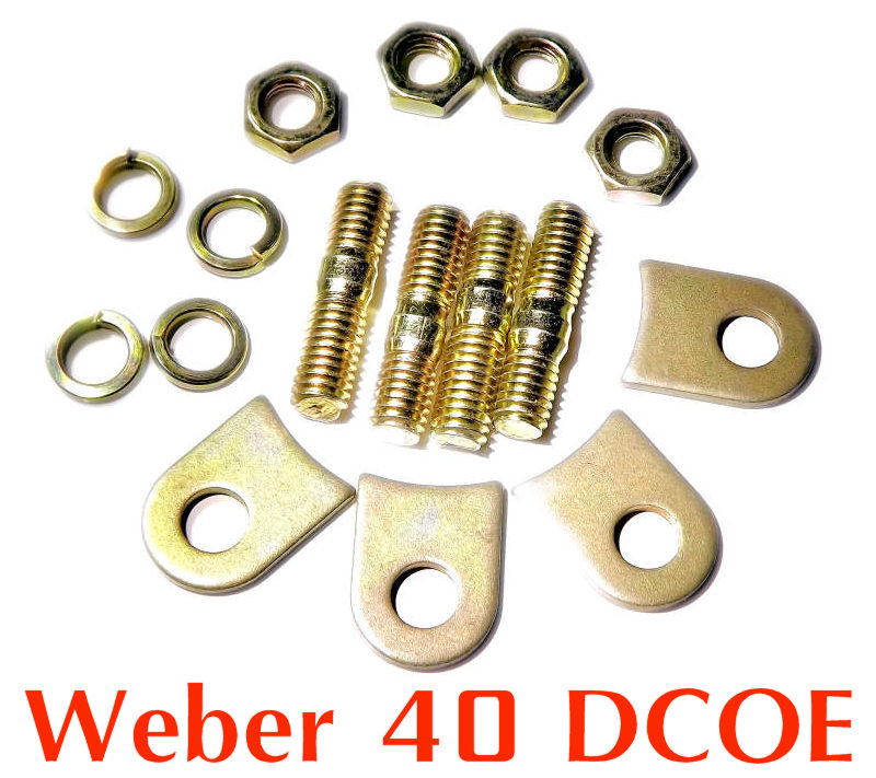 Installation kit pads tabs lock for Weber 45 DCOE for 2x velocity stack air horn
